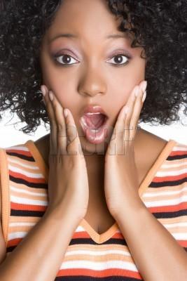 shocked black girl